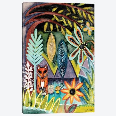 The Fox And The Hedgehog Canvas Print #WYA98} by Wyanne Canvas Art
