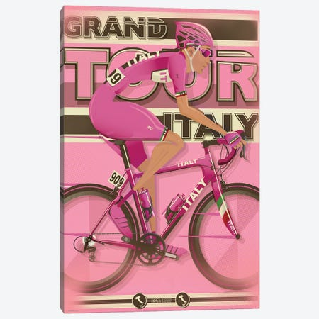Giro D'Itali Canvas Print #WYD10} by WyattDesign Canvas Art Print