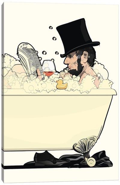 Abraham Lincoln In The Bath Canvas Art Print