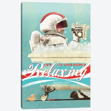 Spaceman In The Bath Canvas Print #WYD14} by WyattDesign Canvas Art