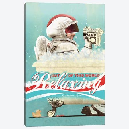 Spaceman In The Bath Canvas Print #WYD14} by WyattDesign Canvas Art