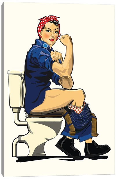 We Can Do It Loo On The Toilet Canvas Art Print