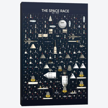 The Space Race Canvas Print #WYD26} by WyattDesign Canvas Print