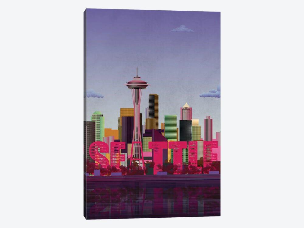 Seattle Skyline by WyattDesign 1-piece Canvas Print