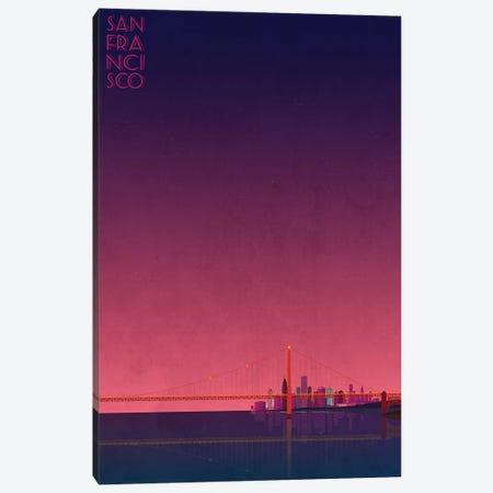 San Francisco Skyline Canvas Print #WYD2} by WyattDesign Canvas Art