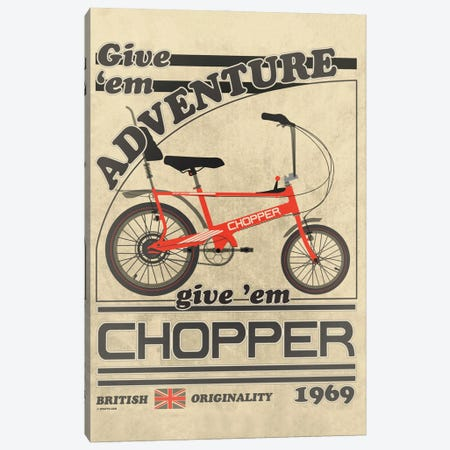 Chopper Bicycle Vintage Advert 3-Piece Canvas #WYD31} by WyattDesign Canvas Art Print