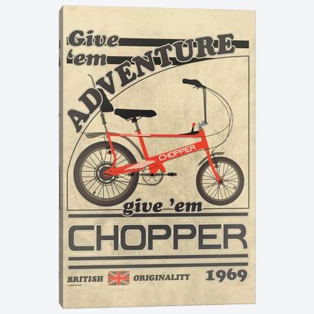 Chopper Bicycle Vintage Advert Canvas Print #WYD31} by WyattDesign Canvas Art Print