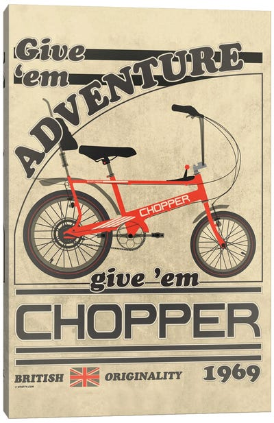 Chopper Bicycle Vintage Advert Canvas Art Print
