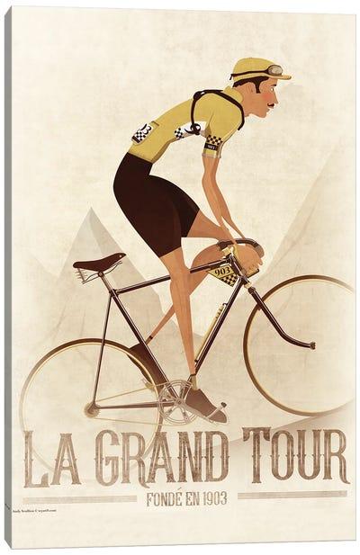 Vintage Tour De France Cyclist Canvas Art Print