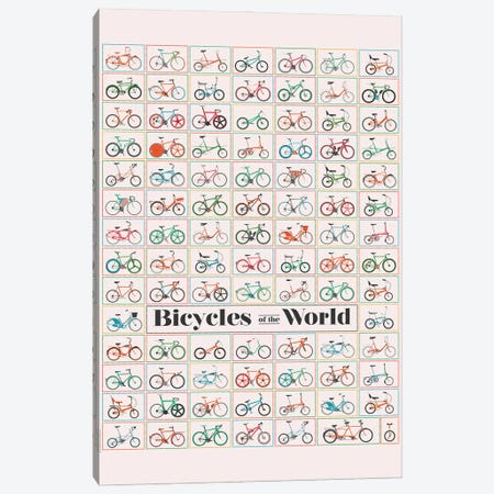 Bicycle Of The World Canvas Print #WYD34} by WyattDesign Canvas Art