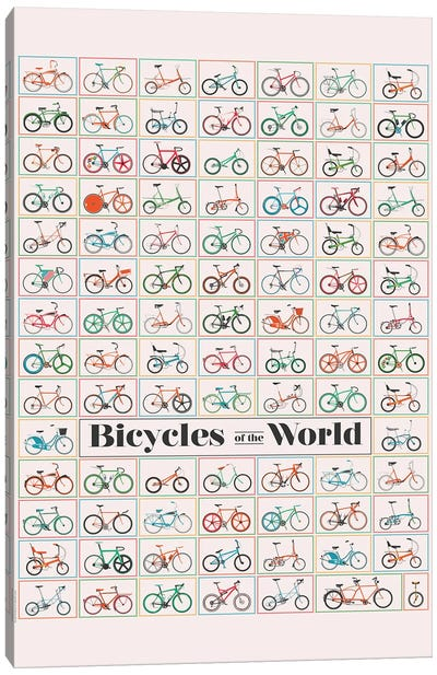 Bicycle Of The World Canvas Art Print