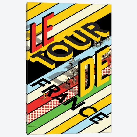 Tour De France Peloton 3-Piece Canvas #WYD36} by WyattDesign Canvas Artwork