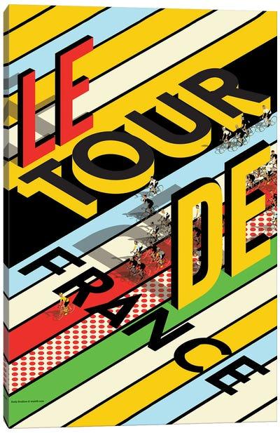 Tour De France Peloton Canvas Art Print