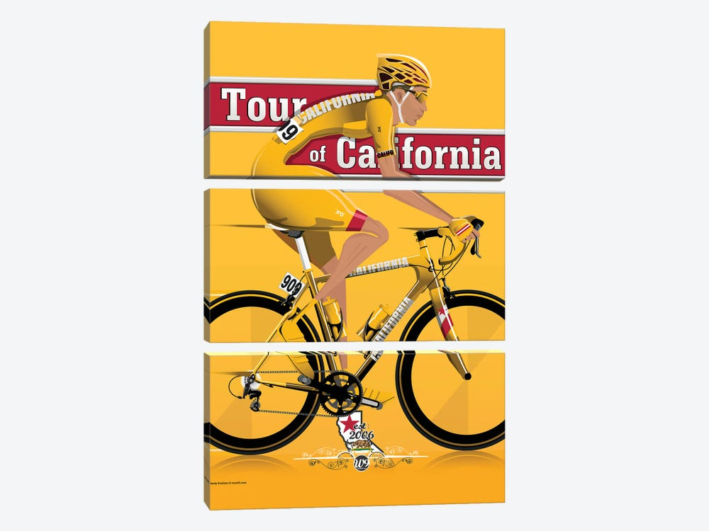 Tour Of California by WyattDesign 3-piece Canvas Print