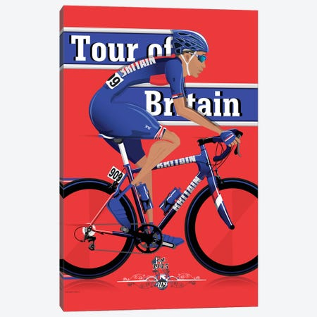 Tour Of Britain 3-Piece Canvas #WYD39} by WyattDesign Canvas Art Print