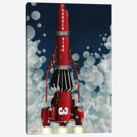 Thunderbird 3 Canvas Print #WYD3} by WyattDesign Canvas Wall Art
