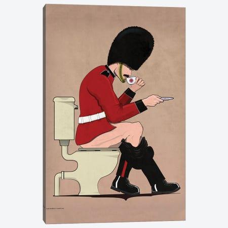 British Soldier On The Toilet Canvas Print #WYD40} by WyattDesign Canvas Artwork