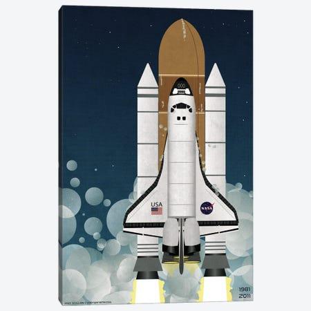 Nasa Space Shuttle Canvas Print #WYD43} by WyattDesign Canvas Wall Art