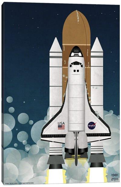 Nasa Space Shuttle Canvas Art Print