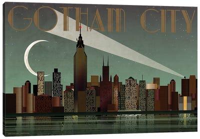 Gotham City Skyline Canvas Art Print