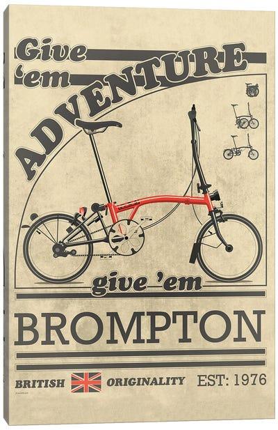 Brompton Bicycle Vintage Advert Canvas Art Print