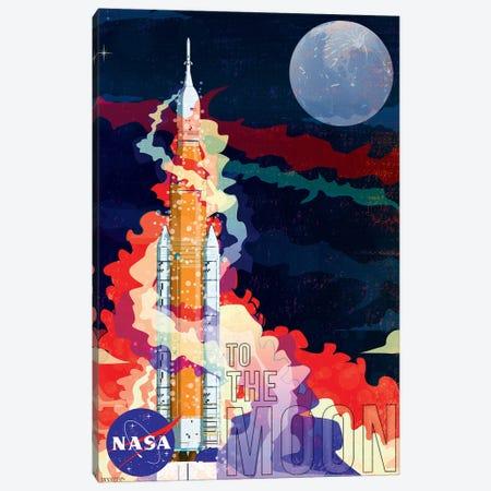 Nasa Sls Rocket Canvas Print #WYD46} by WyattDesign Canvas Art Print