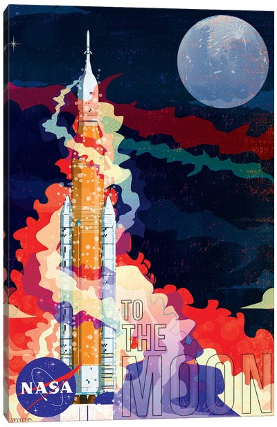 Nasa Sls Rocket Canvas Art Print