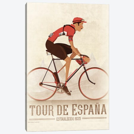 Vuelta A Espana Cycling Tour 3-Piece Canvas #WYD47} by WyattDesign Canvas Art Print