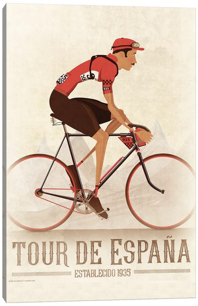 Vuelta A Espana Cycling Tour Canvas Art Print