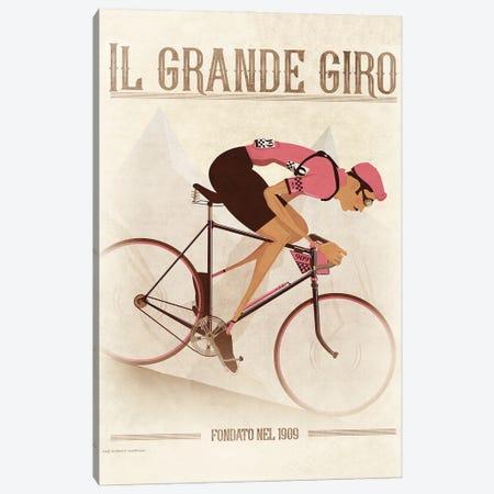 Giro D'Italia Vintage Cycling Tour Canvas Print #WYD48} by WyattDesign Canvas Artwork