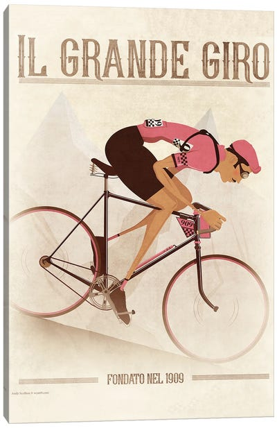 Giro D'Italia Vintage Cycling Tour Canvas Art Print