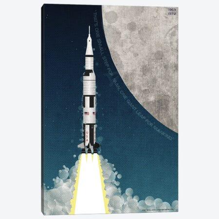 Nasa Apollo Saturn V Canvas Print #WYD49} by WyattDesign Canvas Art