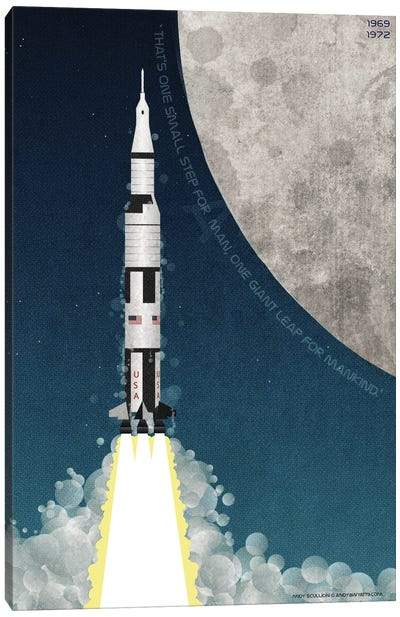 Nasa Apollo Saturn V Canvas Art Print
