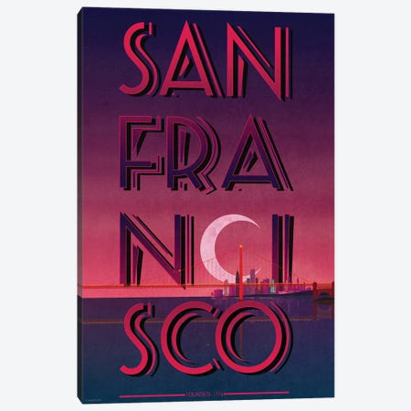 San Francisco Canvas Print #WYD5} by WyattDesign Canvas Print