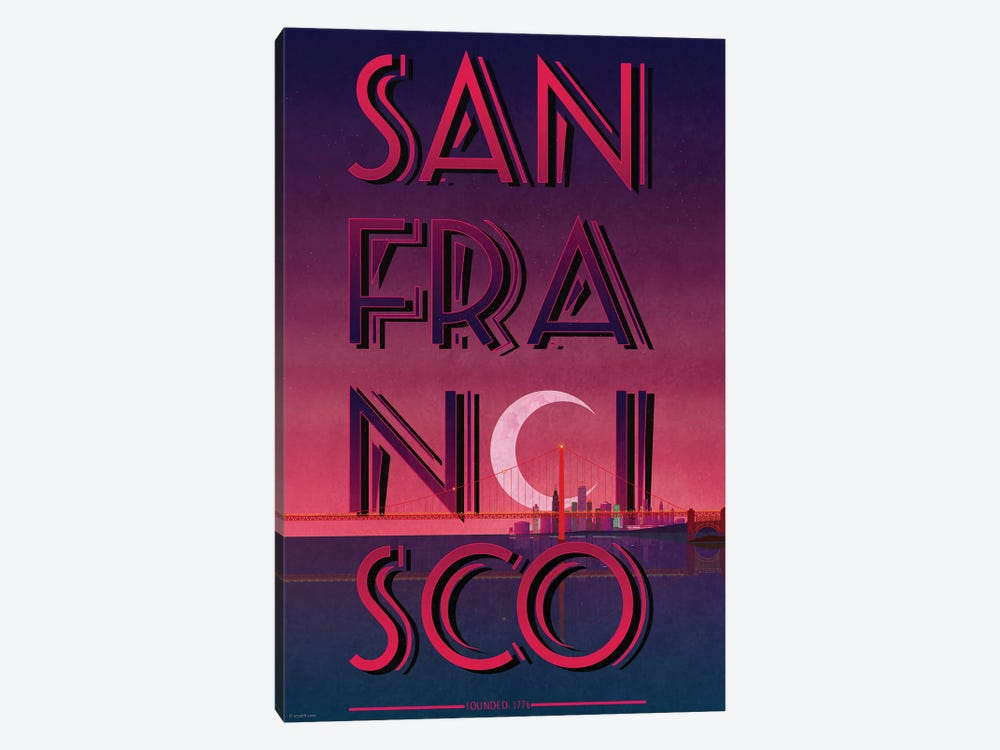 San Francisco by WyattDesign 1-piece Canvas Print