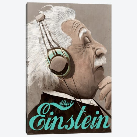 Albert Einstein Canvas Print #WYD6} by WyattDesign Canvas Art Print