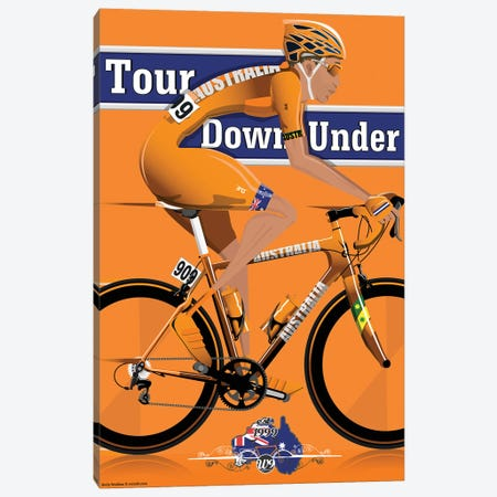 Tour Down Under 3-Piece Canvas #WYD7} by WyattDesign Canvas Print