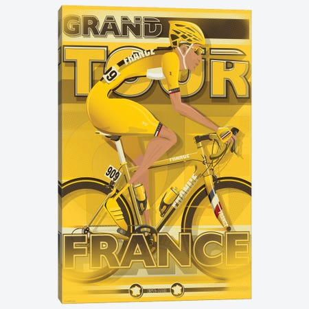 Tour De France Canvas Print #WYD9} by WyattDesign Canvas Artwork