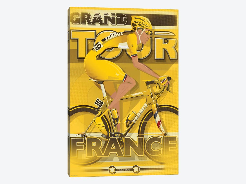 Tour De France by WyattDesign 1-piece Canvas Art Print