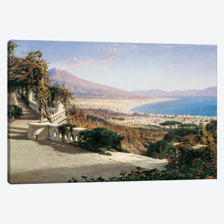 A View Of The Bay Of Naples Canvas Print #WYL1} by William Wyld Canvas Artwork