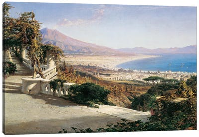 A View Of The Bay Of Naples Canvas Art Print