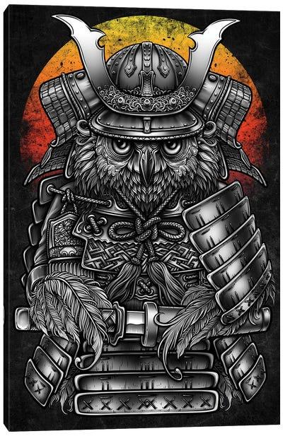 Owl Samurai Warrior Canvas Art Print