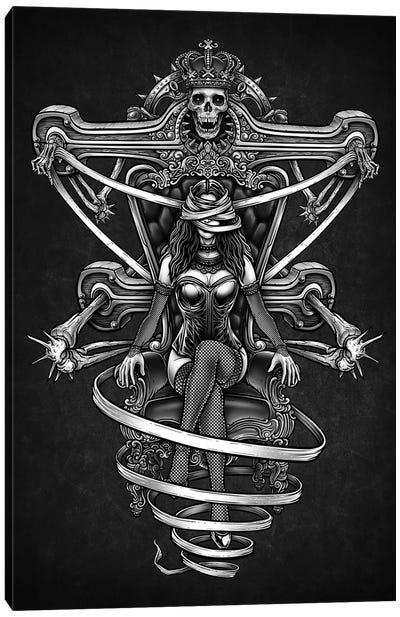 Girl Throne Canvas Art Print