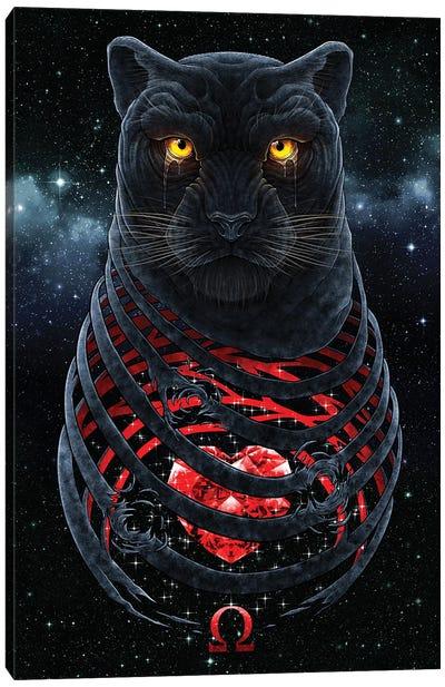 Black Panther Heart Canvas Art Print