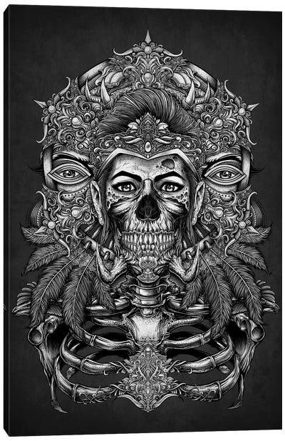 Aztec God Of The Land Of Death Canvas Art Print