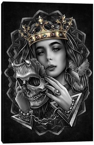 Myterious Princess And Evil Mask Canvas Art Print