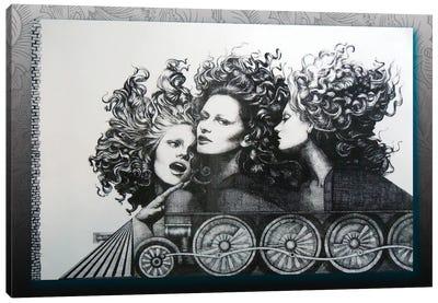 Fast Train Canvas Art Print