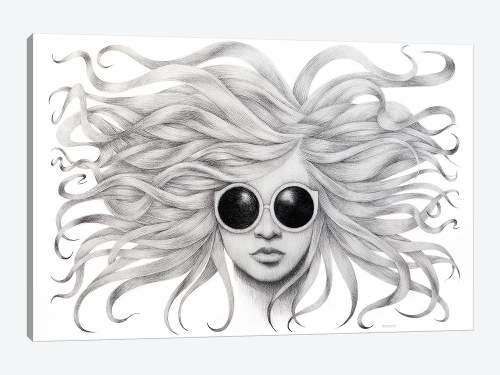 Gravity Zero by Anastasia Alexandrin 1-piece Canvas Artwork