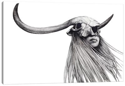 Horned Girl Canvas Art Print