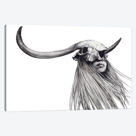 Horned Girl Canvas Print #XAN16} by Anastasia Alexandrin Canvas Print